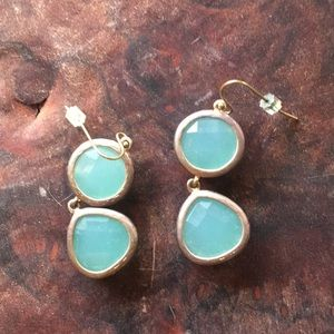 Anthropologie blue earrings